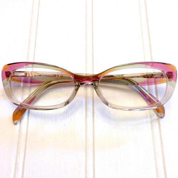 0c181bb64762 Emilio Pucci Accessories - Emilio Pucci full rim multicolor Cat Eye glasses